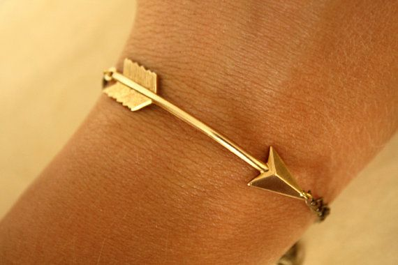 Gold Arrow Bracelet By Iadornu On Etsy Wanelo