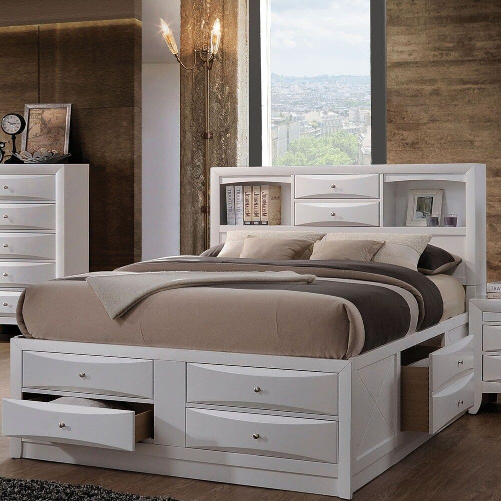 Acme Furniture Ireland Bed with Storage, White in 2020