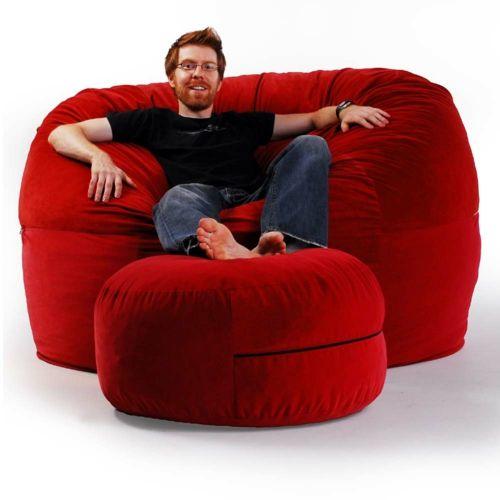 Großer runder Sitzsack - ergonomisches Design von Brookstone - #Möbel