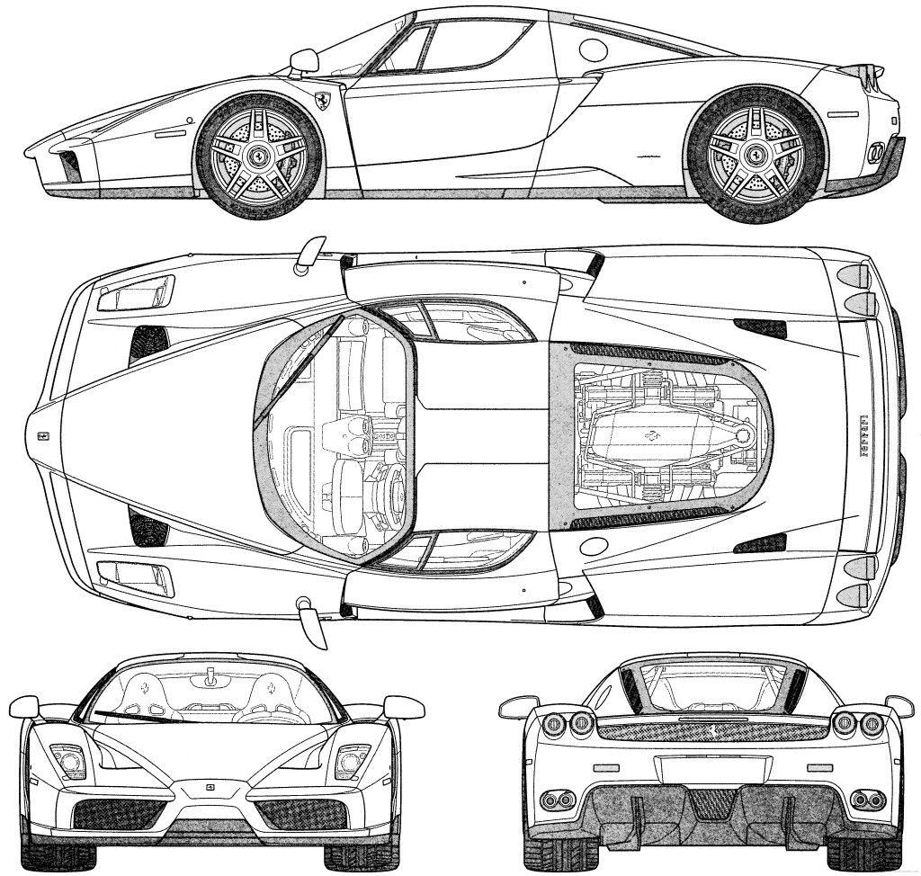 Blueprints Ferrari Enzo