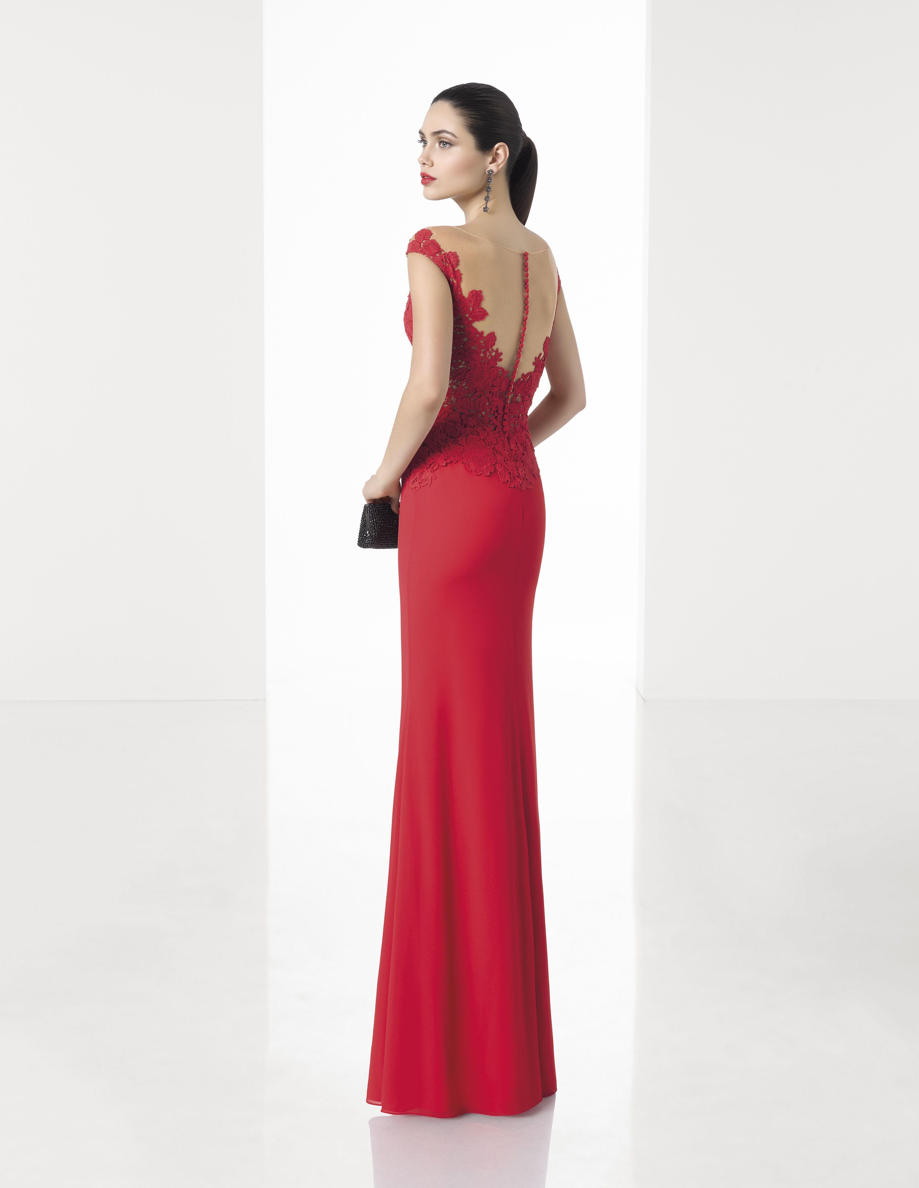 Vestido de Fiesta de Rosa Clará (1T267), colección elegance, largo