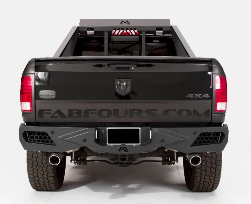 Fab Fours Dr09 E2951 1 Vengeance Rear Bumper With Sensor Holes Dodge Ram 1500 2010 2016 Custom Trucks Dodge Ram Dodge