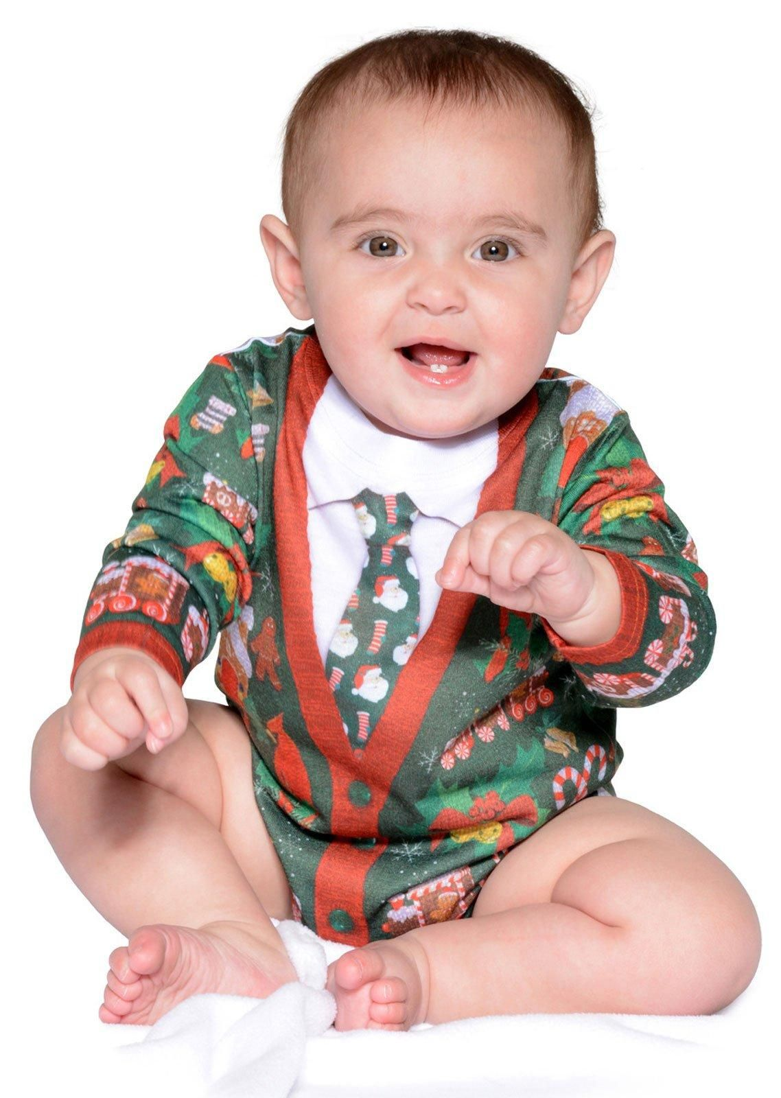 Ugly Christmas Cardigan Romper For Babies From Buycostumescom