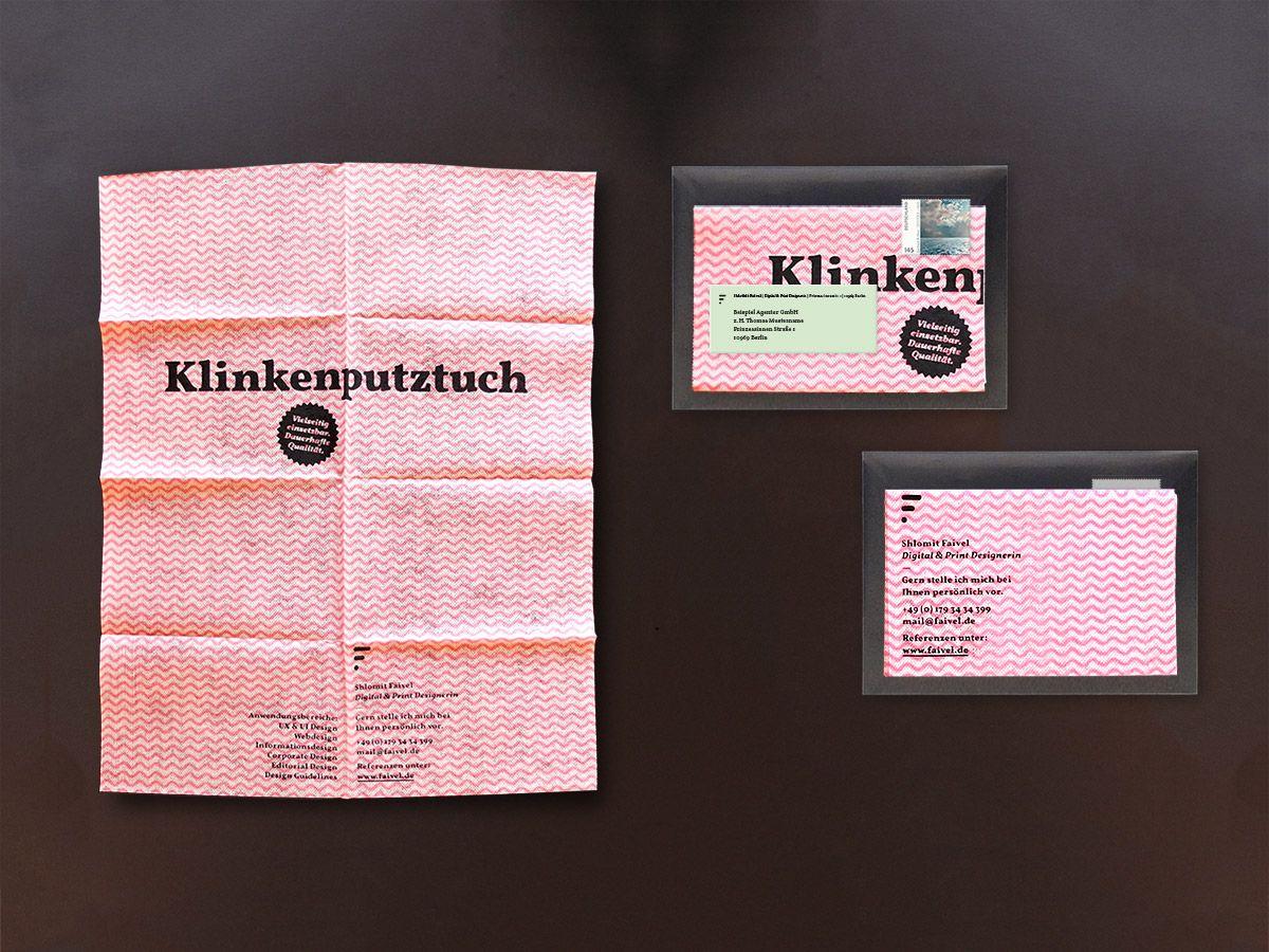 Klinkenputztuch Akquisemailing Editorial Design