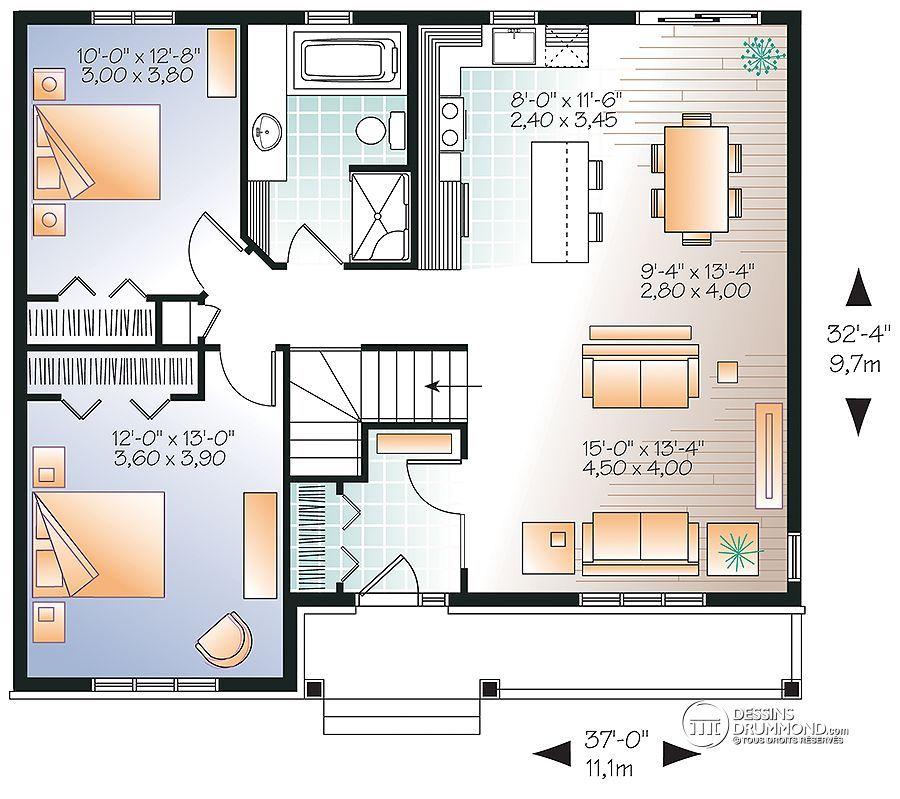 plan de maison unifamiliale