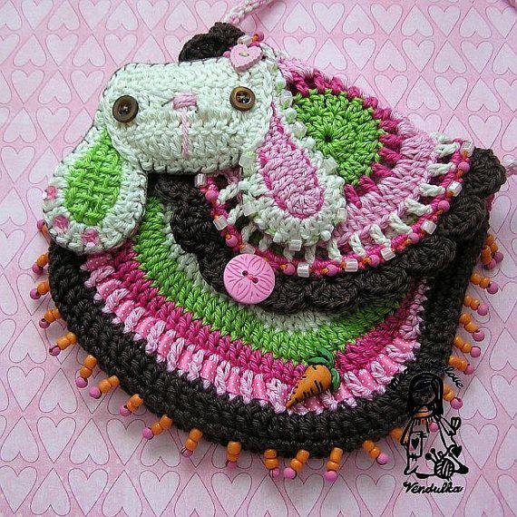 My little sweet bunny - crochet purse pattern, DIY
