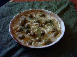Kefta bel zeitoun algerian stuffed olives on a bed of for Algerian cuisine