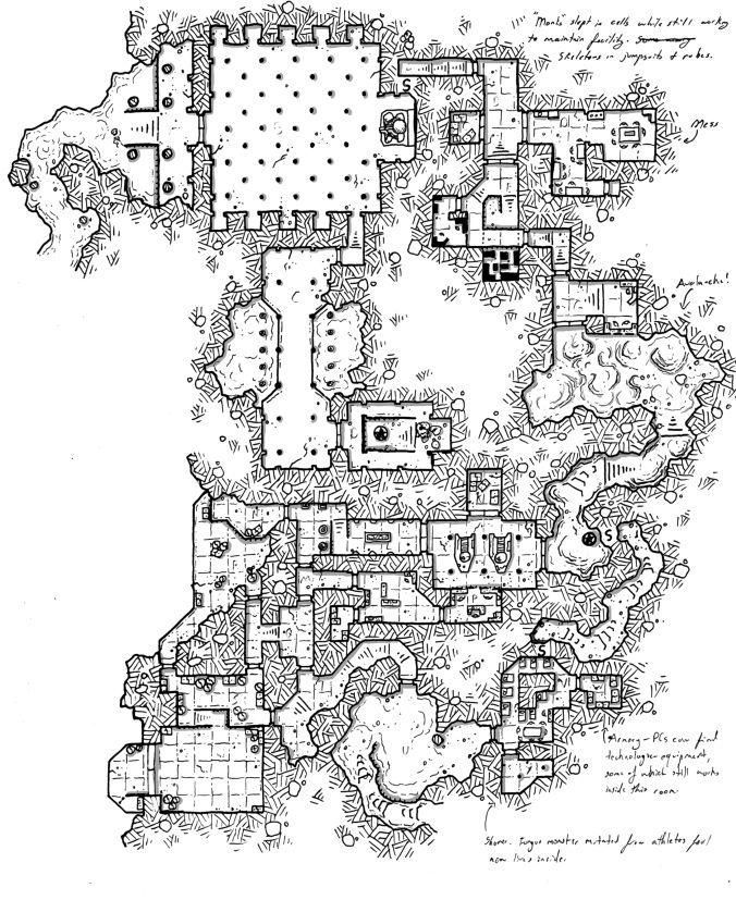 Mountaintop Science Facility W Temple Facade Map