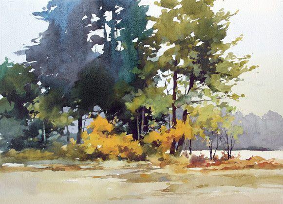 William Vrscak Abstraktnaya Akvarel Akvarelnye Derevya
