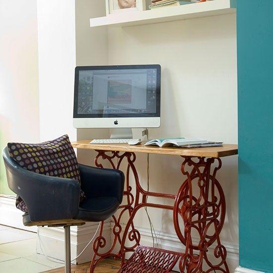 Wohnideen Arbeitszimmer Home Office Büro - Büro zu Hause mit Vintage