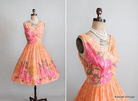 1950s floral sundress