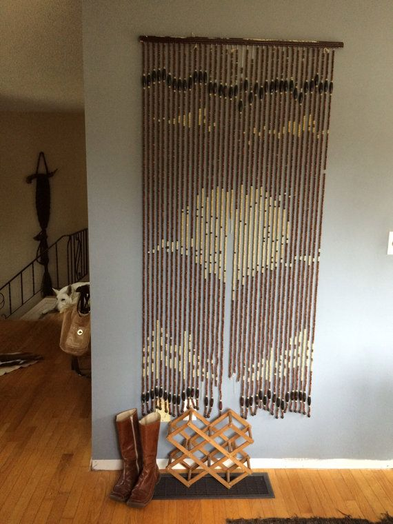 Vintage Beaded Door Hanging From The 70 S By Moonlightingnow