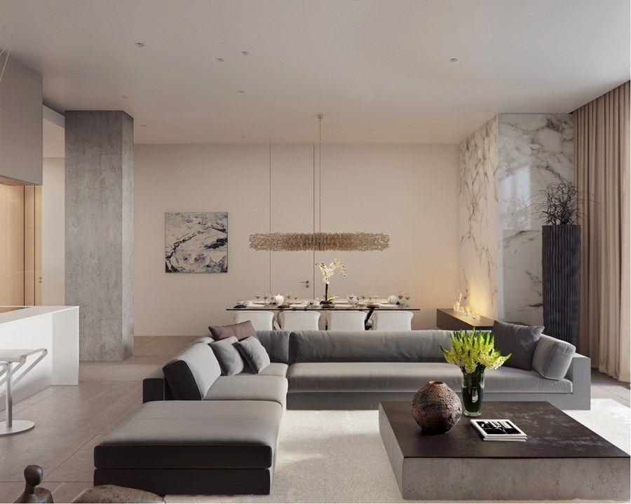 Apartment on Yakimanka by Alexandra Fedorova 01 Гостиные
