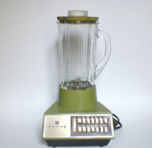 kitchens vintage avocado green blender waring 1970s    kitchen appliances      rh   pinterest com