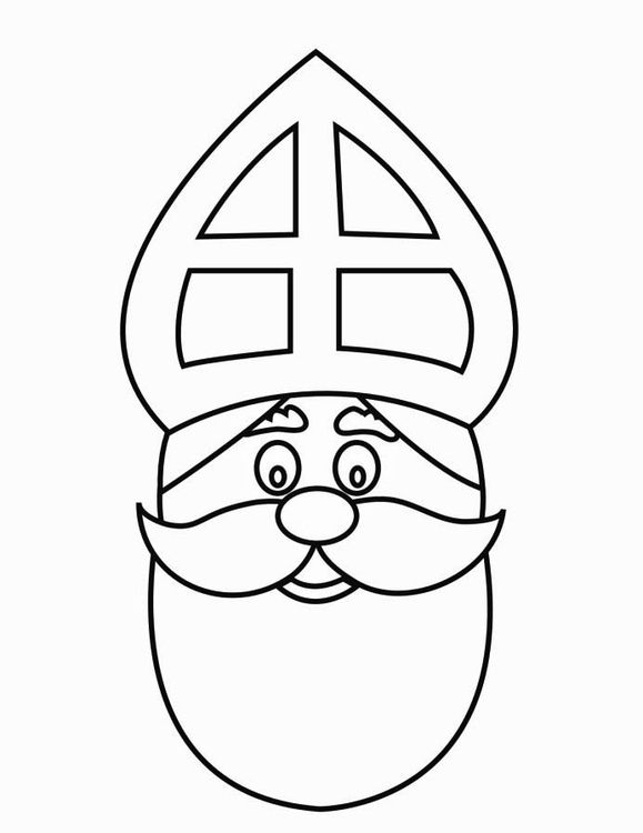 Coloring Page St Nicholas Face 2 St Nicholas Day Coloring