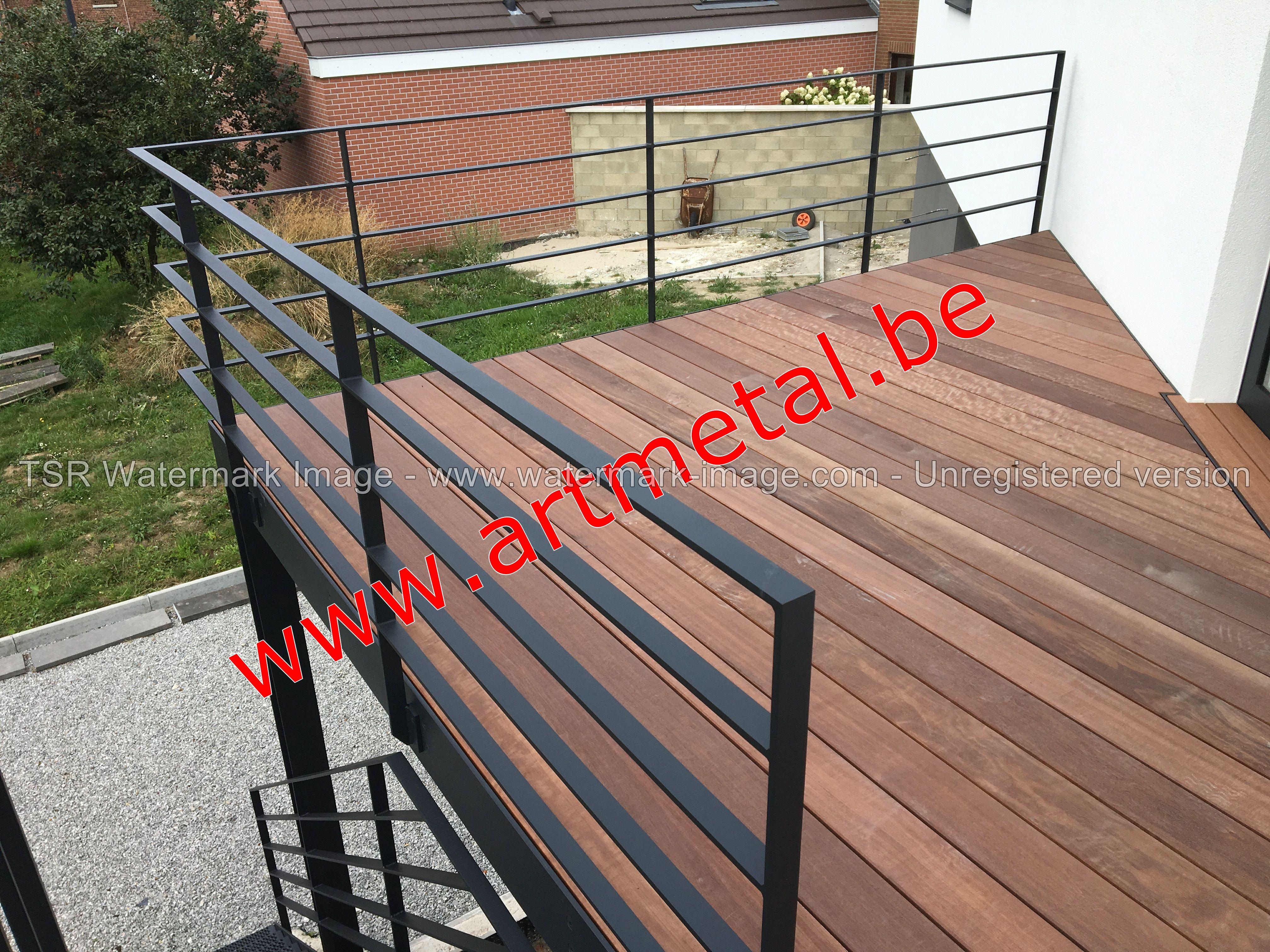 Terrasse Metallique Sur Pilotis Structure 100 Acier Recouvert D Un Plancher En Teck Realisation Www Artmetal Be