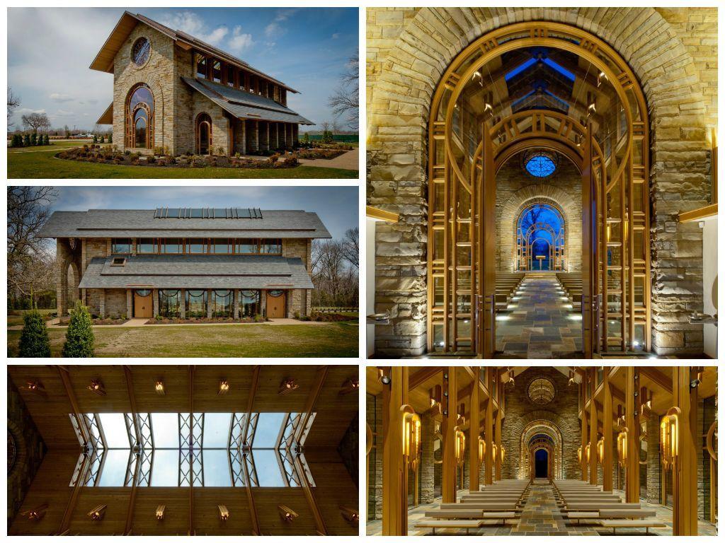 Jb hunt memorial chapel in rogersar arkansas wedding