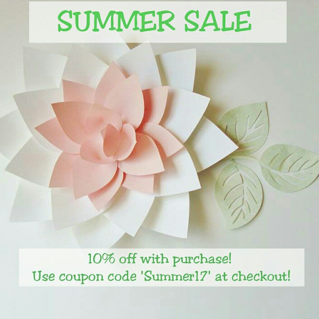 SUMMER SALE at Dream Events in Paper Etsy Weure celebrating the
