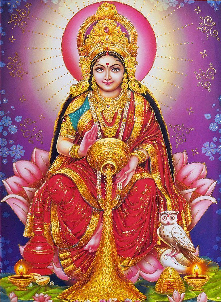 Dhana Lakshmi - Glitter Poster in 2019 | Download | Goddess lakshmi