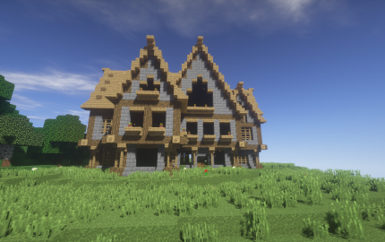 Medium Sized Medieval House Creation 7944 Medieval Houses Minecraft Architecture Minecraft Houses