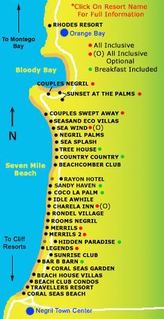 Map Of Negril Hotels Google Search
