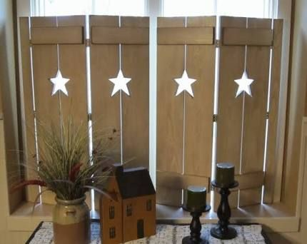 Image Result For Decorative Window Shutters Interior Primitive Decorating Country Primitive Decorating Window Shutters Diy