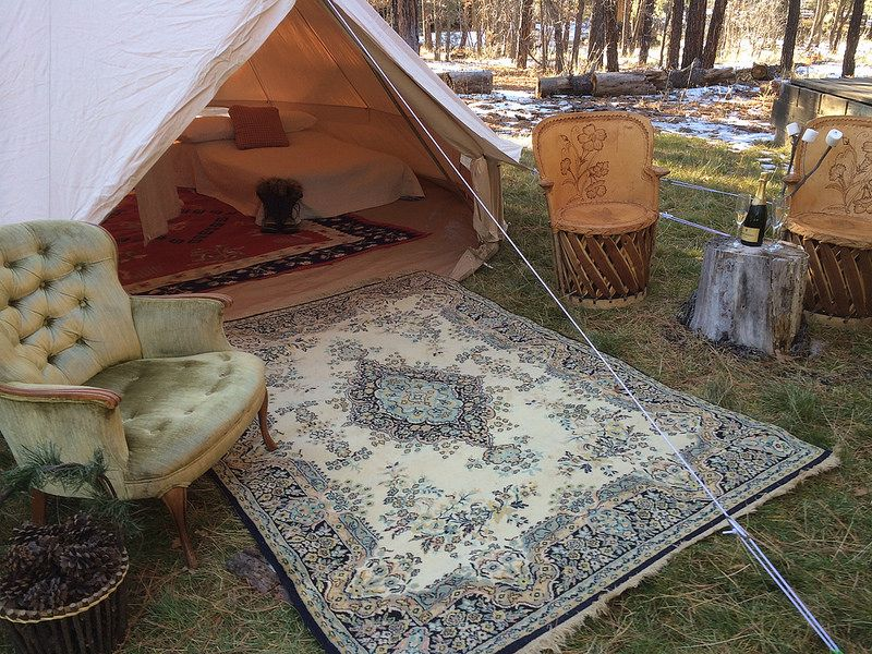 Glamping or camping bell tenterific tent rentals tent