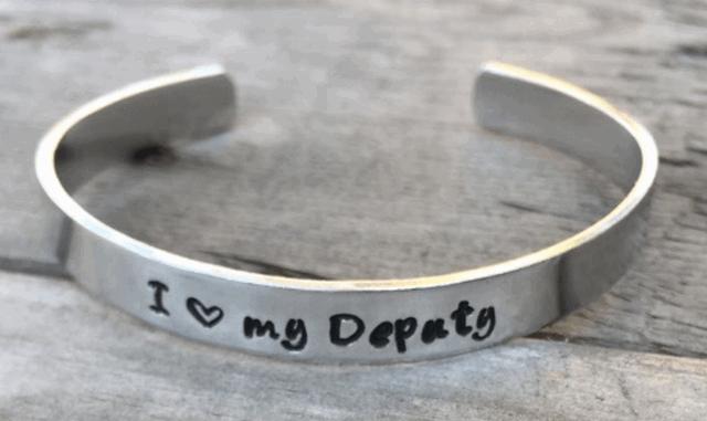 I Love My Deputy Cuff Bracelet