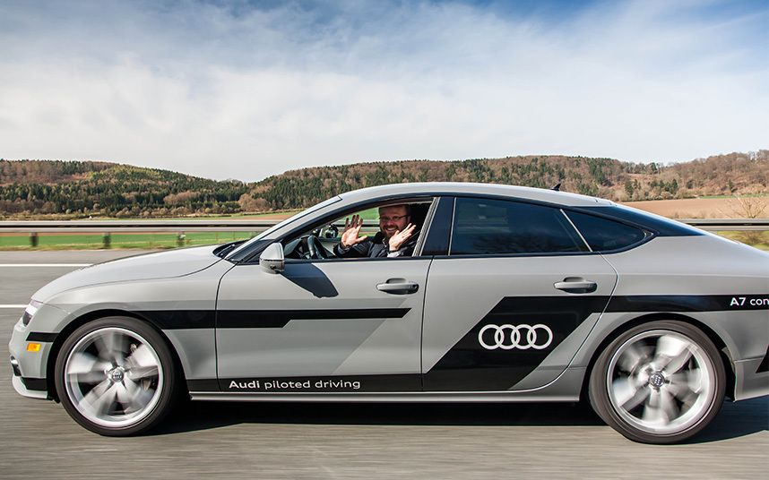 Watch: Audi's self-driving car in action | Audi, Car ins ...