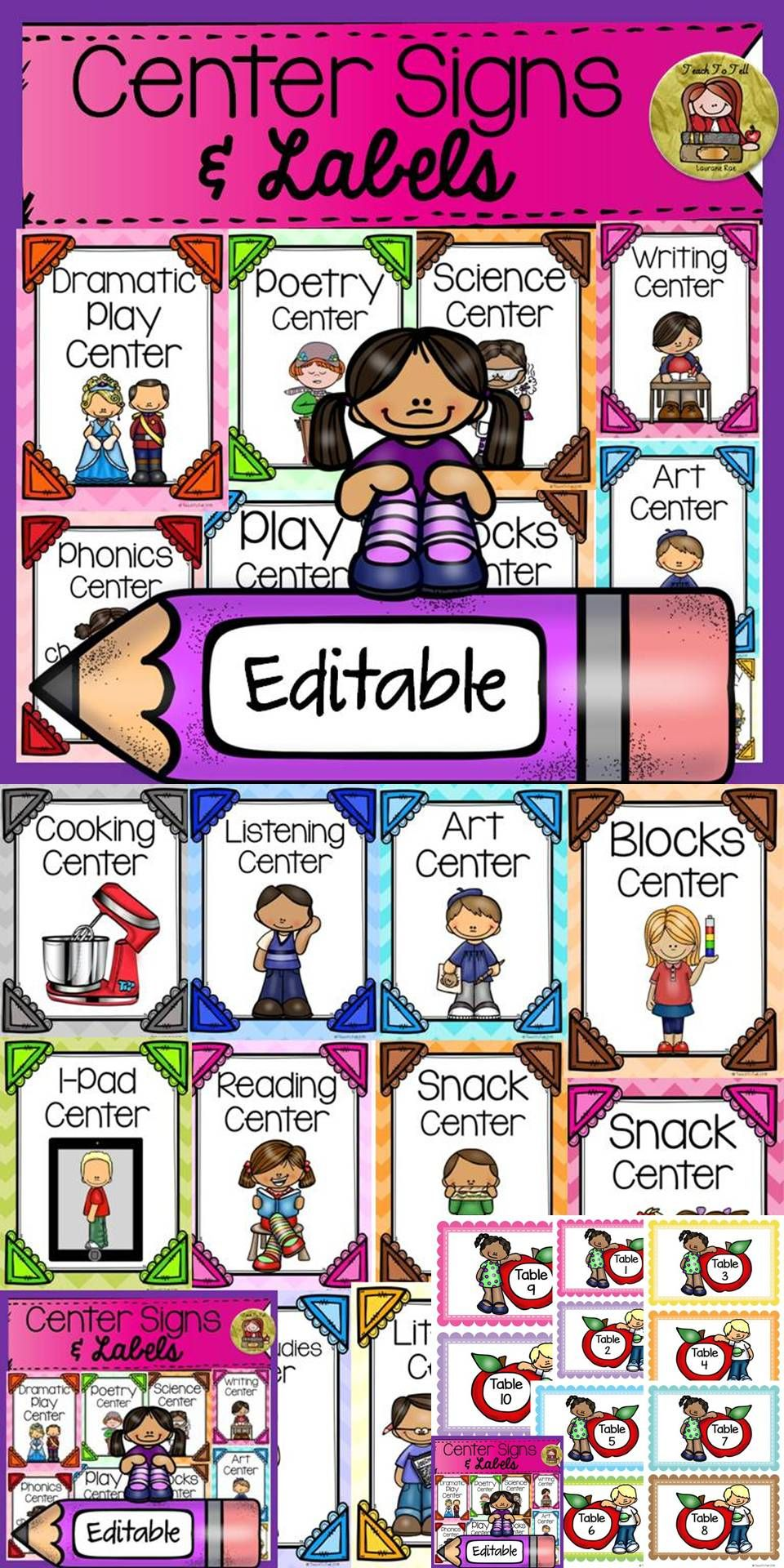 This is an image of Astounding Free Printable Preschool Center Labels