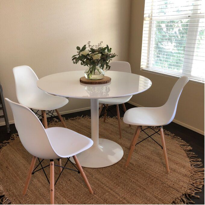 Langley Street Oak Park Dining Table, Small White Circle Dining Table And Chairs
