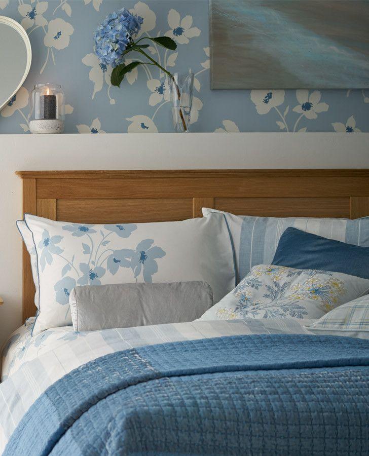 Simone Seaspray Sham Lauraashleyhome, Laura Ashley Bluebirds Bedding