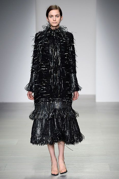 Graham Fan's graduate fashion collection evokes metallic pan scourers