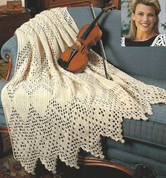 Crochet Afghan Timeless Victorian Afghan Throw Pattern