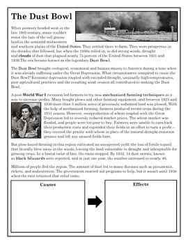 The Dust Bowl-Causes & Effects | Homeschool is COOL! | Teaching ...