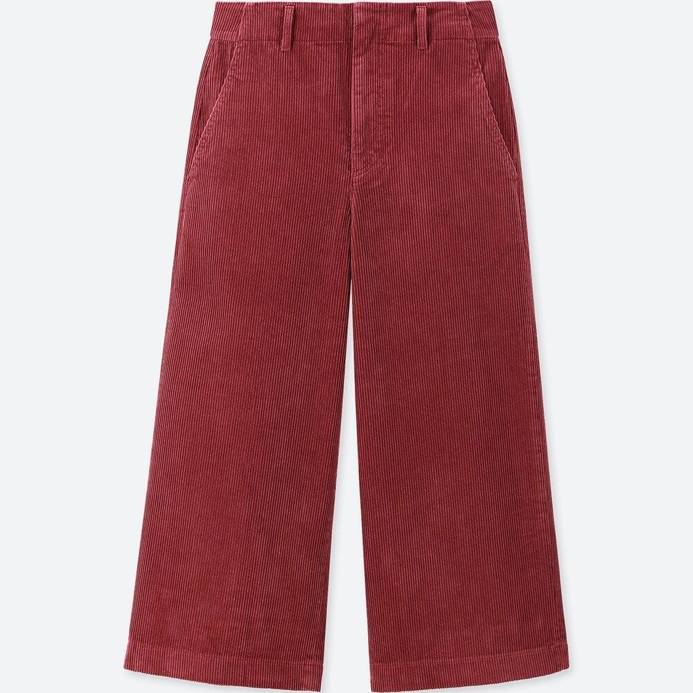 hot products wholesale dealer big discount WOMEN Corduroy Wide Cropped Pants | Shop ❤️ in 2019 ...