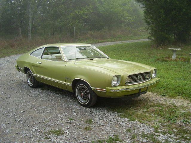 Bright Green Gold 1974 Mustang Ii Hatchback Mustang Ii Mustang Hatchback