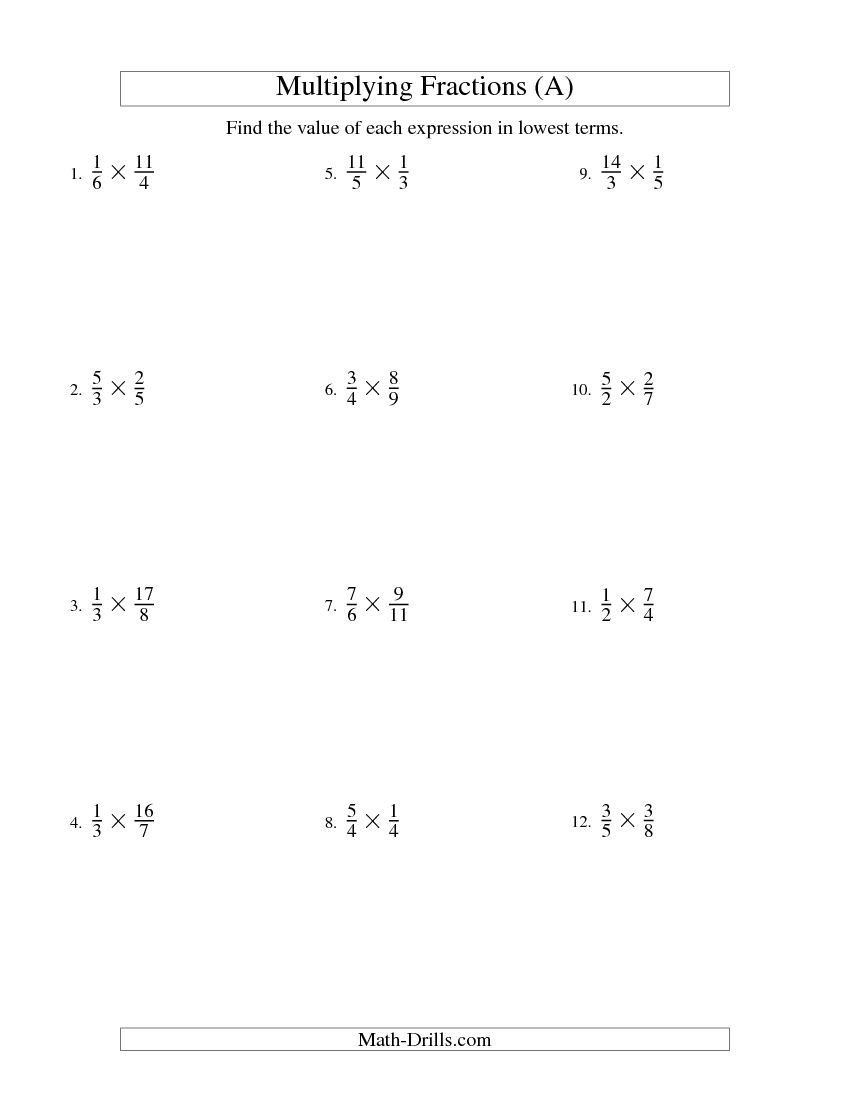 Multiplying And Simplifying Proper And Improper Fractions All Fractions Worksheets Proper Fractions Simplifying Fractions