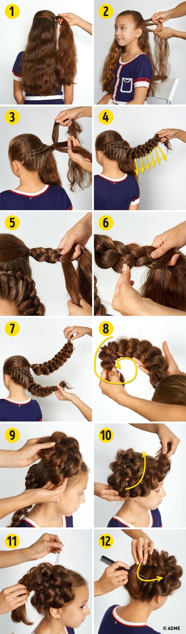прически с которыми ваша принцесса будет самой красивойu hair