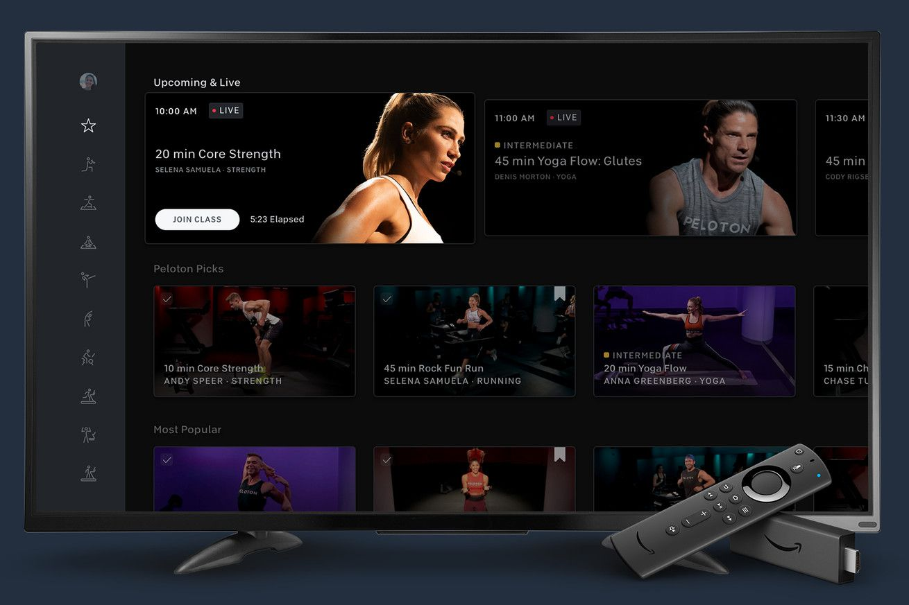 Can You Watch Tv On Peloton Peloton Drops Its Digital Membership Price And Launches Fire Tv And Apple Watch Apps Apple Watch Apps Amazon Fire Tv Fire Tv