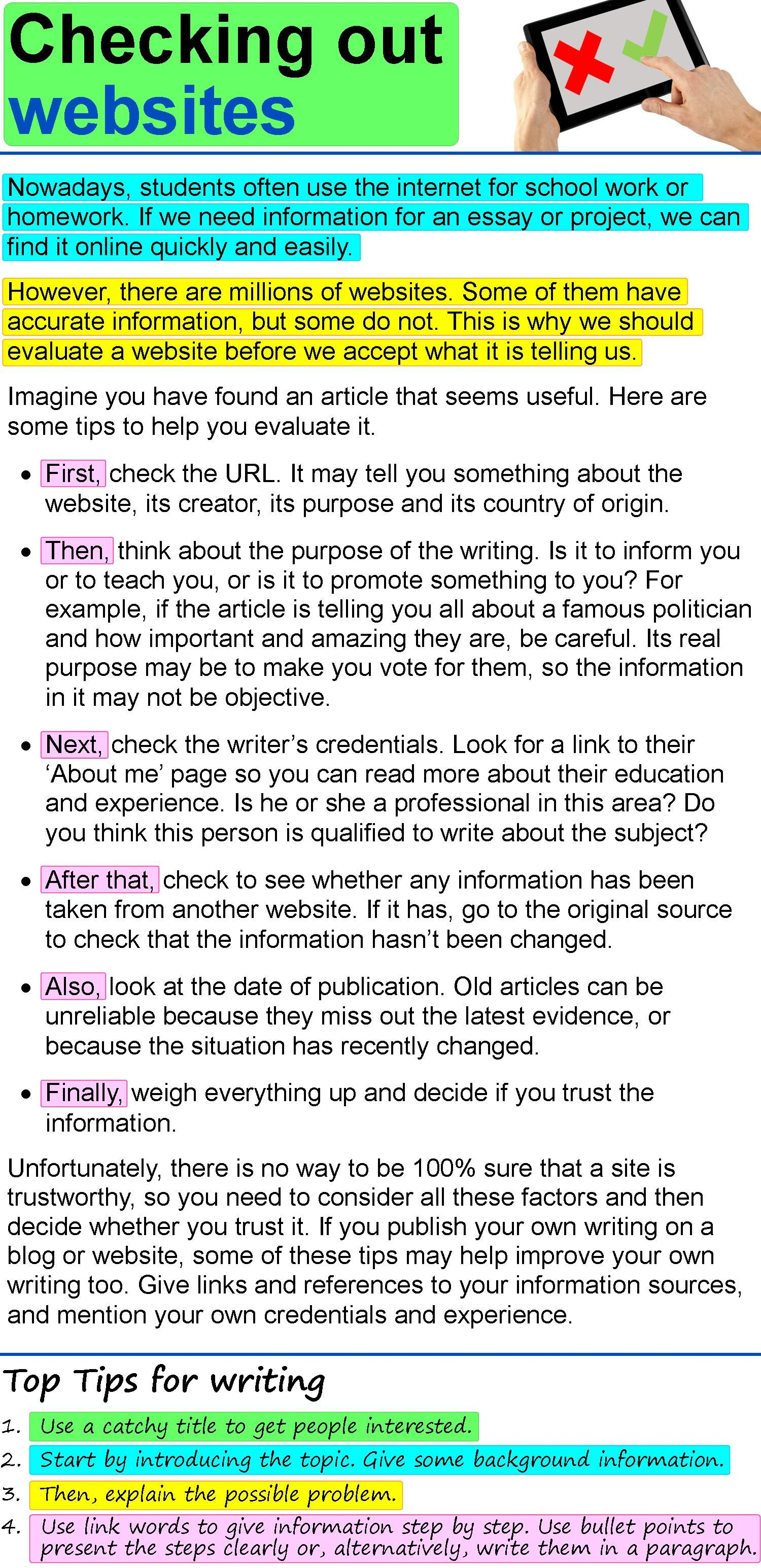 Checking Out Website Ielt Writing Toefl Essay On Trust