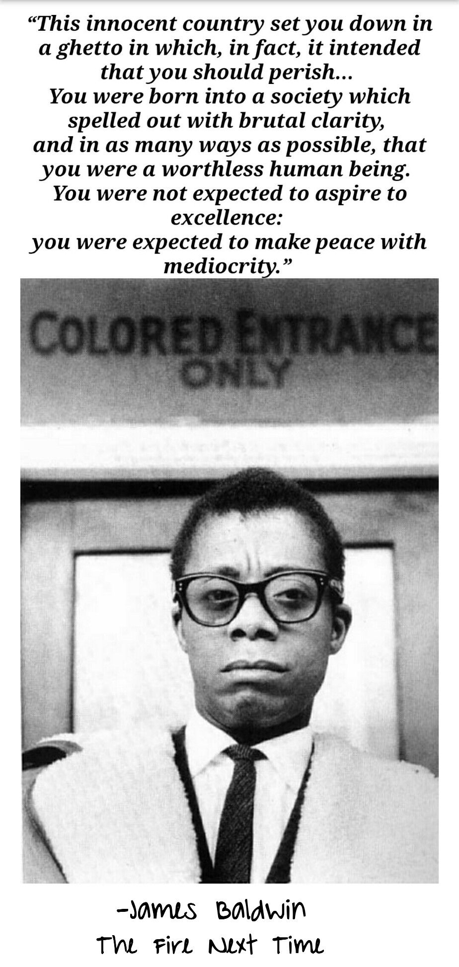 James Baldwin The Fire Next Time History Black History Facts