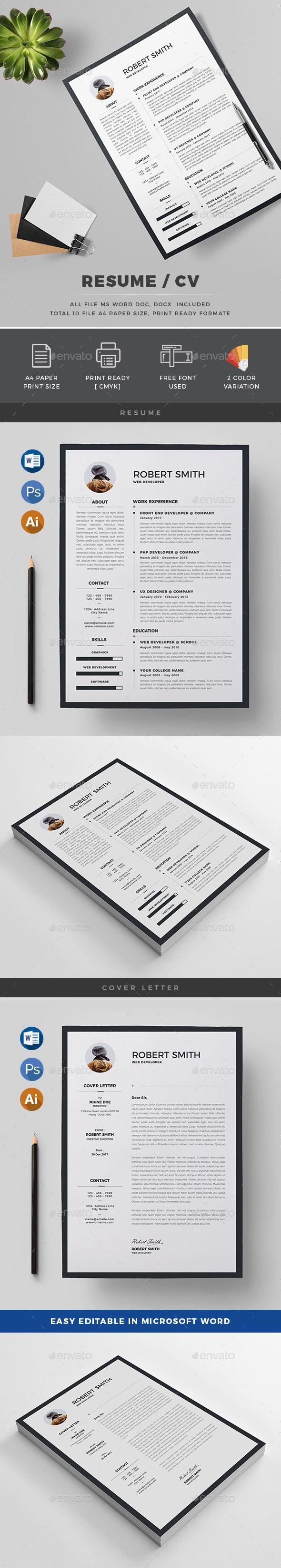 Resume Resume design template, Resume cv, Simple resume