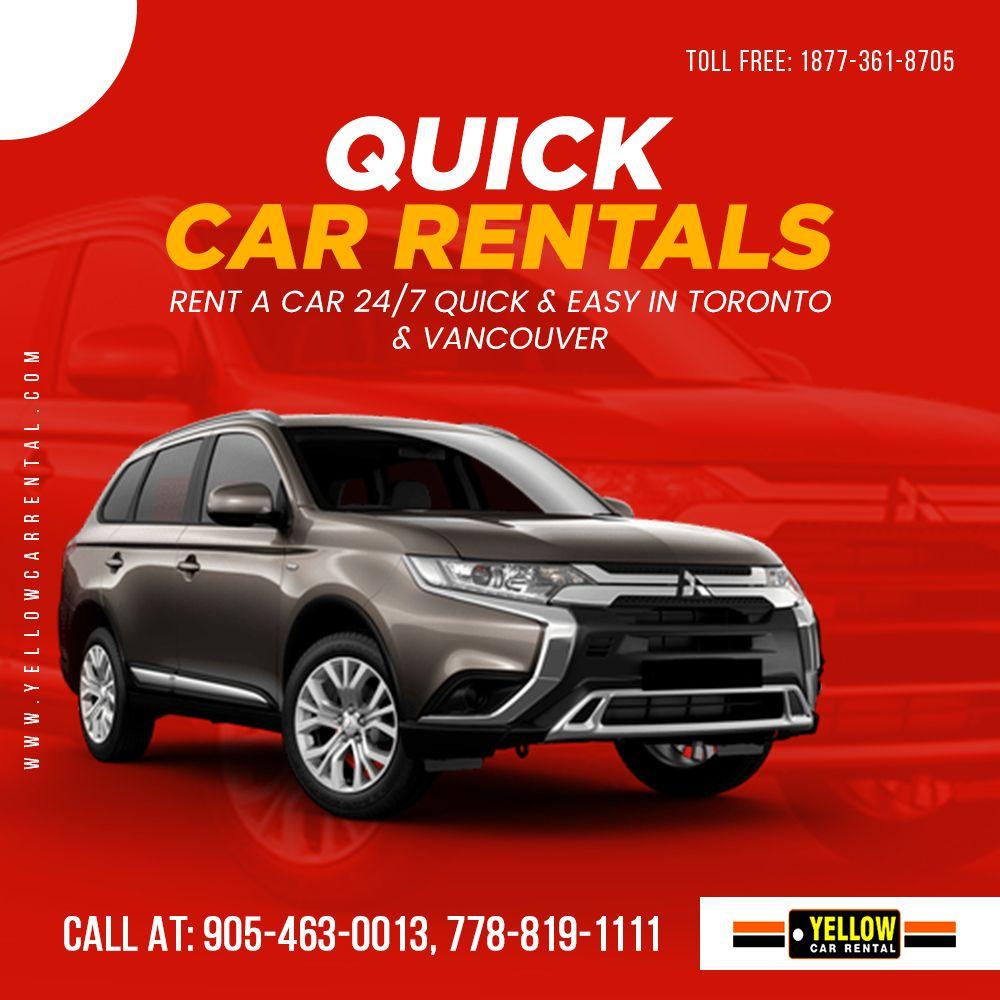 Quick Car Rentals in 2020 Yellow car, Car rental, Car