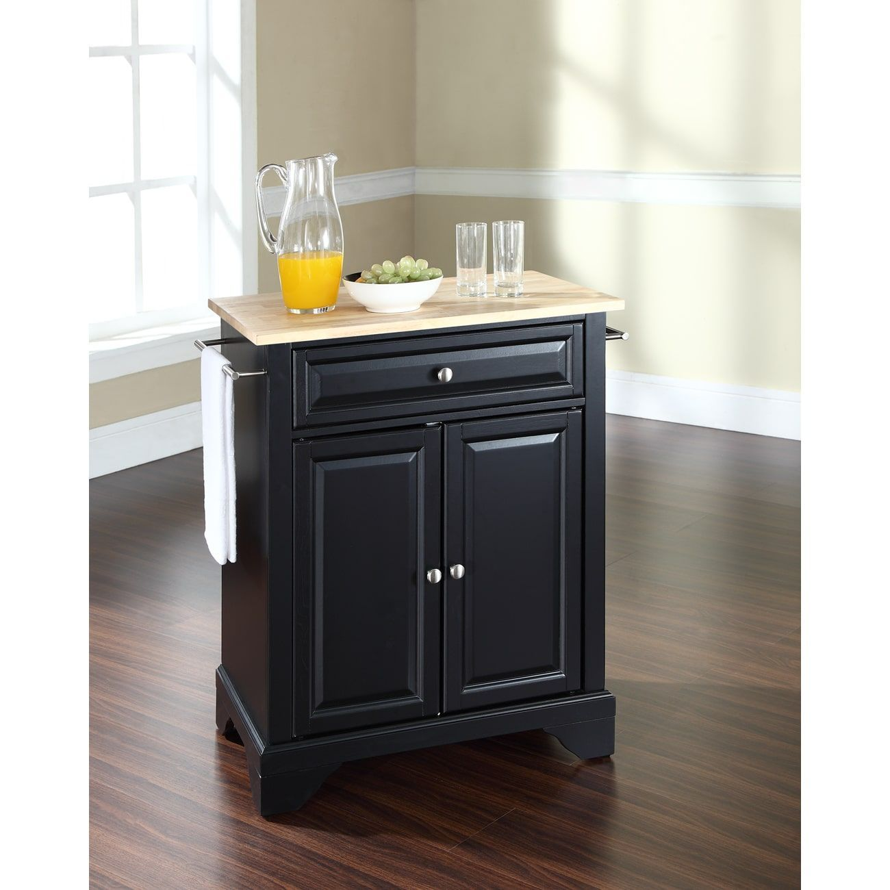 Crosley LaFayette Top Portable Kitchen Island in Finish | Products ...