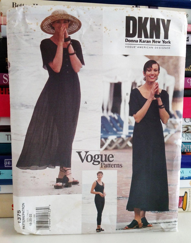 1994 Vogue American Designer, DKNY # 1375-Pullover Dress (Above ...