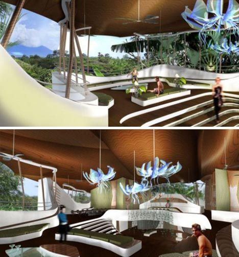 futuristic house interior. futuristic green house interior  Inspired Home Interiors