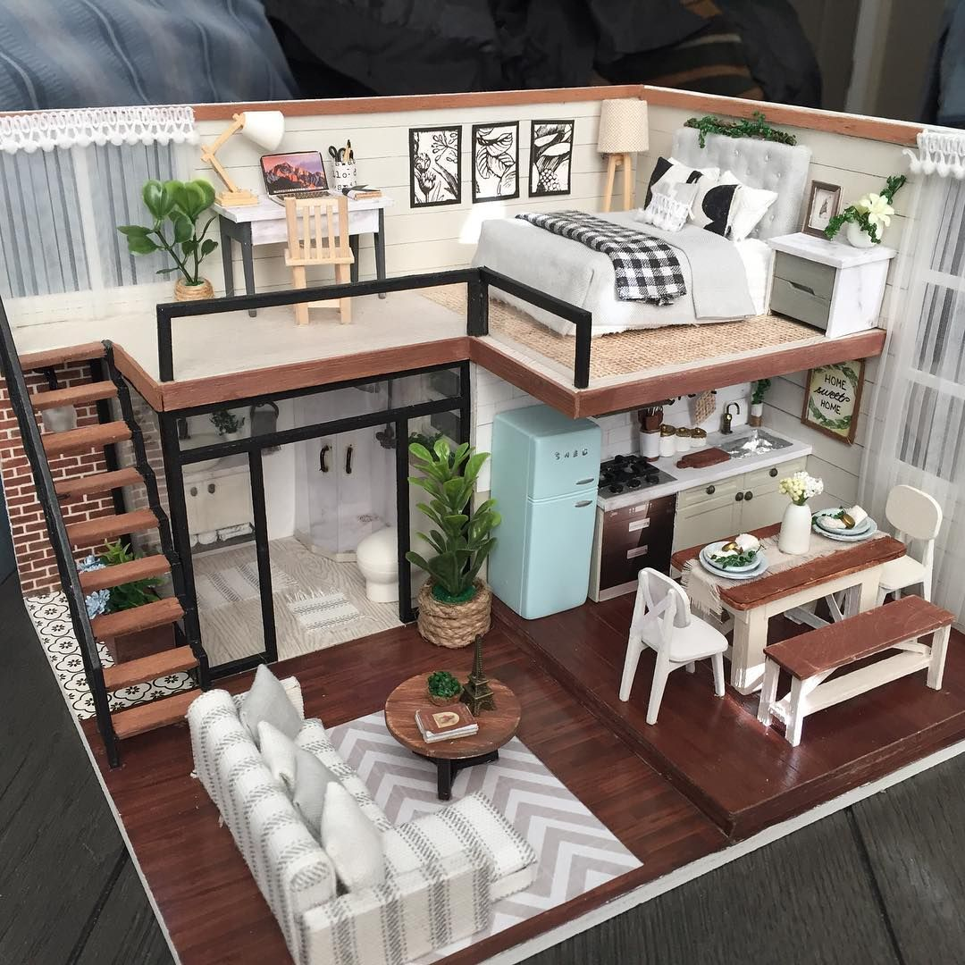 """Ruthie's Minis on Instagram: """"Modiffied dollhouse kit #dollhouse #miniature #dollhousekit"""""""