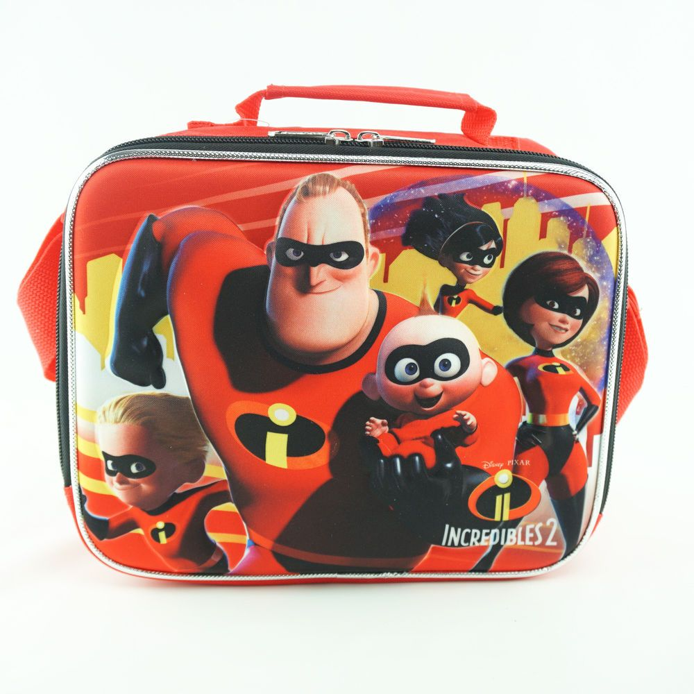 65a4b6ea4b4 Disney Pixar The Incredibles 2 Lunch Box Family Characters Shoulder Strap   Disney  Kids  incredibles2