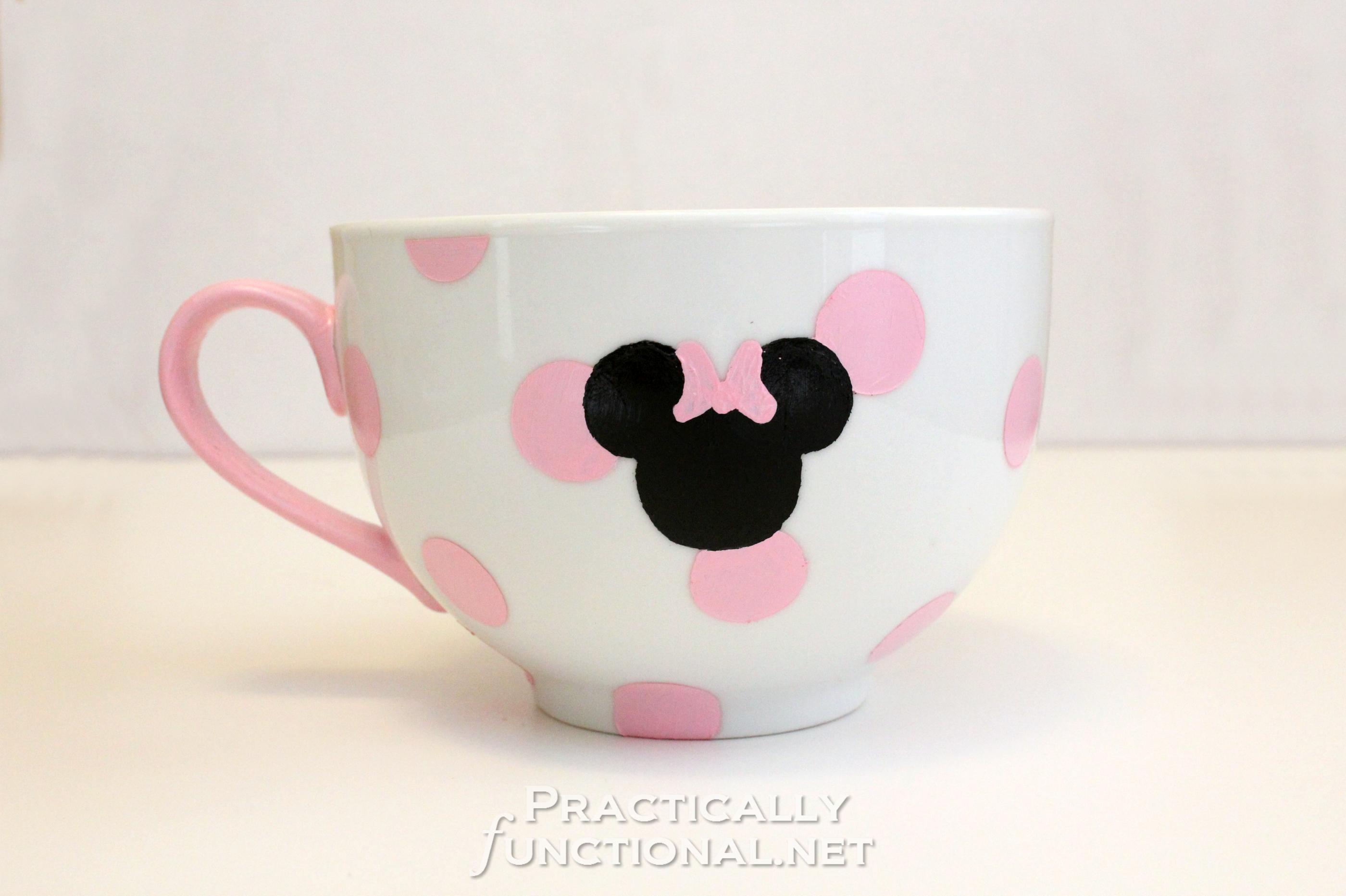 Tazza Personalizzata Fai Da Te make your own minnie mouse mug! | ceramica dipinta, tazze
